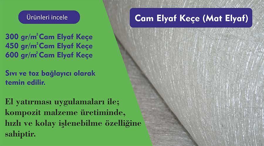 Cam Elyaf Keçe
